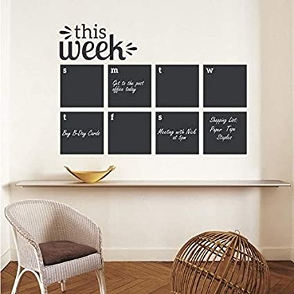 Fyyanm Etiqueta de la pared Esta semana Pizarra Planificador ...