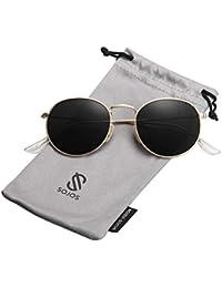 36a1dc3fd0 Small Round Polarized Sunglasses Mirrored Lens Unisex Glasses SJ1014 3447