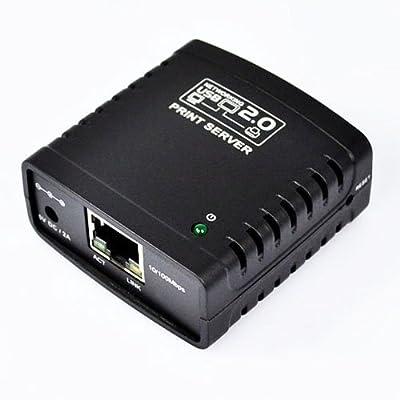 Tenflyer New USB 2.0 Ethernet WiFi Network LPR Print Server Printer Share Hub Adapter
