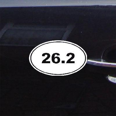日本最大の ステッカーデカール車Oval 26.2壁Die 26.2壁Die Cutノートブック装飾装飾壁アートアートMacbookウィンドウマラソン実行マイルビニール車ホワイト B014NFNSU6, 東京ヒマワリ:2faf1259 --- a0267596.xsph.ru