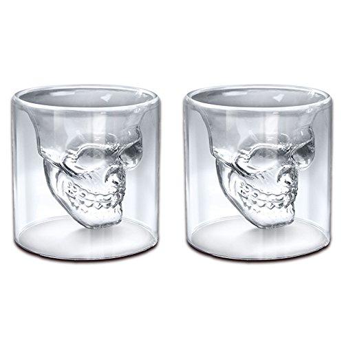 Witty Novelty Skull Shot Glass (Pack of 2)