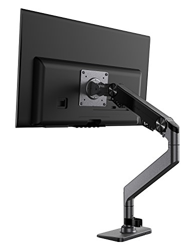 Monitor Arm, Weltraum Premium Aluminum Gas Spring Monitor Desk Mount Holds 10' to 27' Screens, Up to 19.8 lbs, VESA 75x75 or 100x100 (Grey)