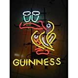"Guinness Beer Bar Pub Handcrafted Real Glass Tube Neon Light Sign 18"" X 14"" the Best Offer!"