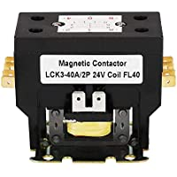 BVPOW Air Conditioner Contactor 24V Coil 2 Pole 40 Amps Universal Compatible Fast Replacement