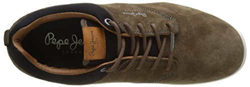 Stag Jayden Pepe Homme Suede Jeans Stag Sneakers Basses Marron xqxvYS5Ow