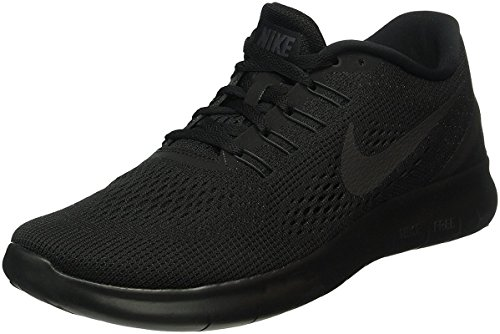 nike-mens-free-rn-black-black-anthracite-running-shoe-10-men-us