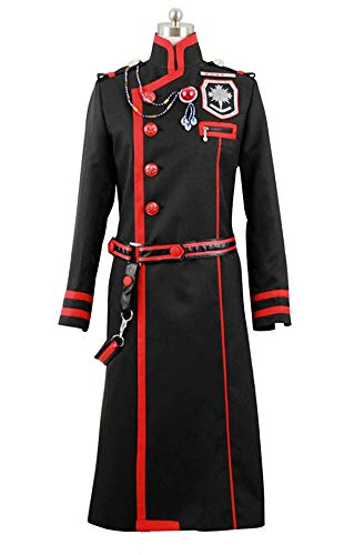 ZYHCOS Black Long Coat Exorcist Fighting Uniform Halloween Cosplay Costume (Mens-XXL)