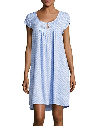 Miss Elaine Women's Pintucked Nightgown (Medium, Blue) (Nightgown Pintucked)