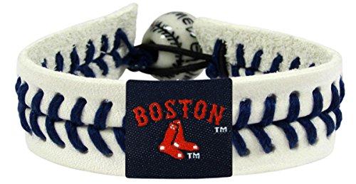 (MLB Boston Red Sox - Boston and Sox Logo Authentic Baseball Bracelet)