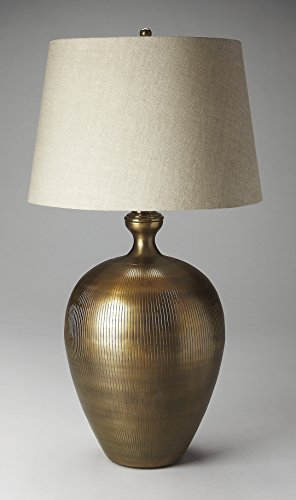 38.5 in. Table Lamp in Antique Brass Finish by Butler