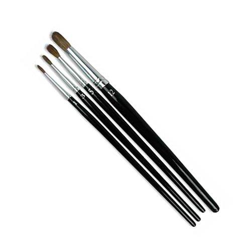 GORDON BRUSH 6020-06000 Camel Hair Round Artist, Black Gloss Wood Handle, Size 6