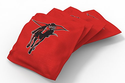 Wild Sports NCAA College Texas Tech Red Raiders Red Authentic Cornhole Bean Bag Set (4 Pack)