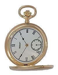 BN22604 - 9ct Gold - Full Hunter - Mechanical Movement - Roman Dial - White Dial
