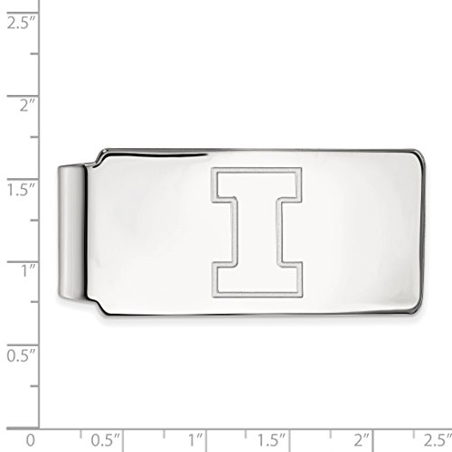 Silver Money Illinois Licensed UI Clip Collegiate University Sterling LogoArt Official of gqwBZ