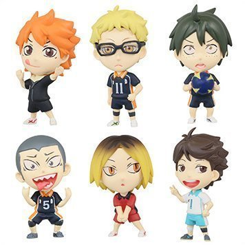 Takara Tomy DEFOME Deformation mini Haikyuu!! vol.2 Set of 6