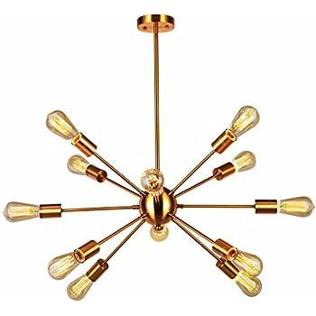 Amazon vinluz modern sputnik chandelier 12 light brushed brass vinluz modern sputnik chandelier 12 light brushed brass mid century pendant lighting rustic ceiling lights fixtures aloadofball Gallery