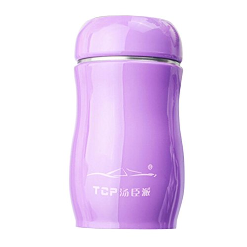 Dolloress 230ML TCP Stainless Steel Candy Color Travel Vacuum Thermal Water Bottle ()