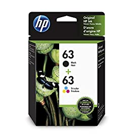 HP 63 | 2 Ink Cartridges | Works with HP Deskjet 1112, 2100 Series, 3600 Series, HP ENVY 4500 Series, HP OfficeJet 3800…