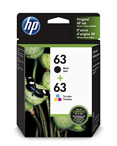 HP 63 | 2 Ink Cartridges | Black, Tri-color | F6U61AN, F6U62AN (Number Of Pages Printed Per Ink Cartridge)