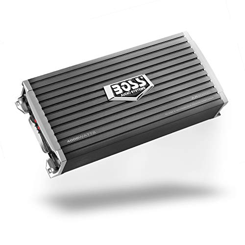BOSS Audio Systems AR4000D Armor 4000 Watt, 1, 2, 4 Ohm Stable Class D MoNOblock Car Amplifier with Remote Subwoofer Control (Best Competition Car Amps)