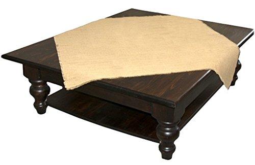 Kel-Toy Burlap Fringe Table Topper, 48