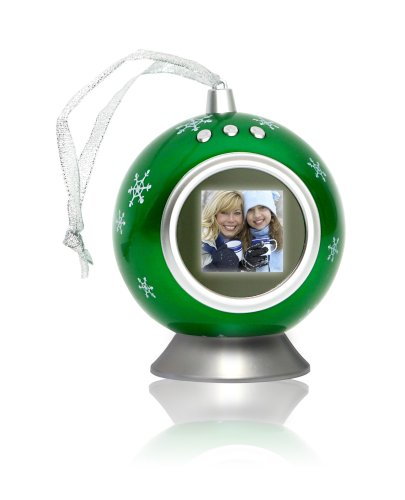 Green Photo Snowflake (Senario Digital Snowflake Ornament in Green)