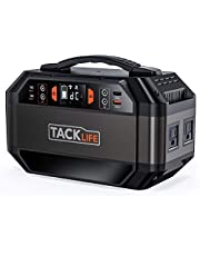 Solar Generator, TACKLIFE 300Wh Portable Power Station, Lithium Battery Pack Portable Generator with 110V/300W AC Outlets Backup Battery for CPAP Outdoor Adventure Load Trip Camping Emergency | P30