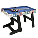 AHHC Multi Function 4 in 1 Combo Game Table, Soccer Foosball Table, Pool Table, Air Hockey Table, Table Tennis Table with Folding Legs,48 inch