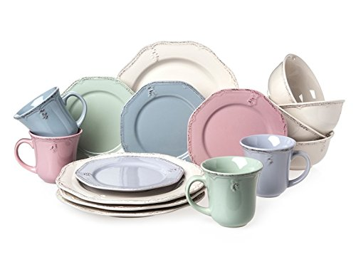 Cuisinart CDST-16MCDF 16 Piece Stoneware Parisian Feast Collection Dinnerware Set Multicolor  sc 1 st  Anna Linens & Cuisinart CDST-16MCDF 16 Piece Stoneware Parisian Feast Collection ...