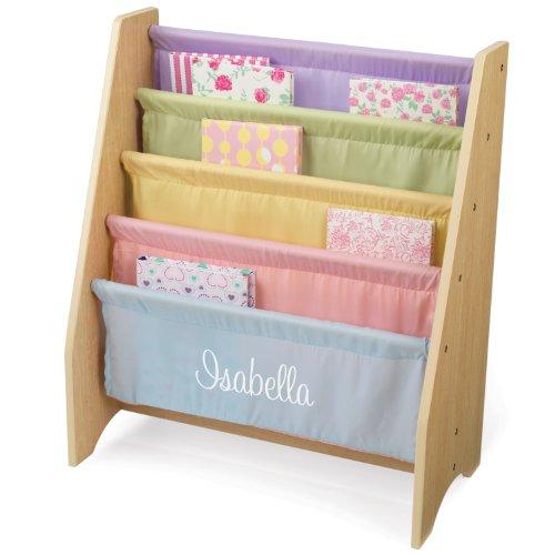 d Pastel Sling Bookshelf with White Script - Isabella (Isabella Bookcase)
