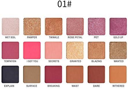 UINGKID - Paleta de maquillaje con purpurina de 18 colores para sombra de ojos profesional: Amazon.es: Belleza