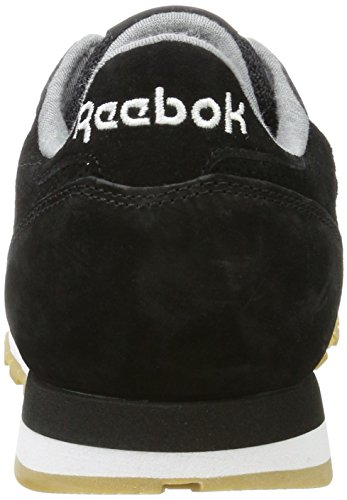 Reebok Classic Leather LS, Scarpe da Ginnastica Basse Uomo Nero (Black/Burnt Sienna/Ash Grey-gum)