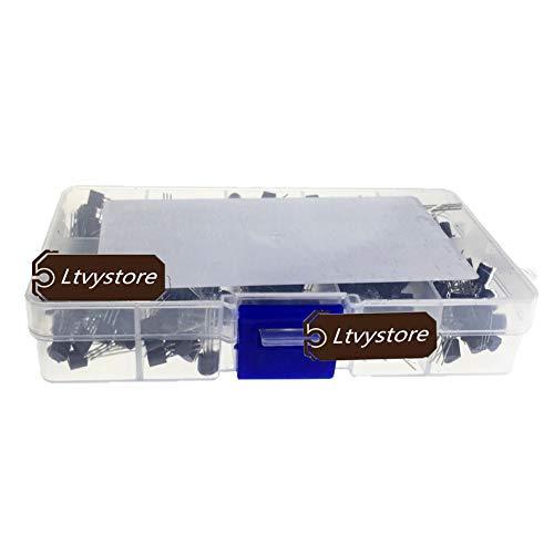 PNP NPN Transistors Kit, Ltvystore Silicon Power Transistor Assorted  Assortment Box Set BC327, BC337, BC517, BC547, BC548, BC549, BC550, BC556,  BC557,
