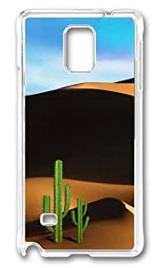 MOKSHOP Adorable Desert Travel Hard Case Protective Shell Cell Phone Cover For Samsung Galaxy Note 4 - PC Transparent