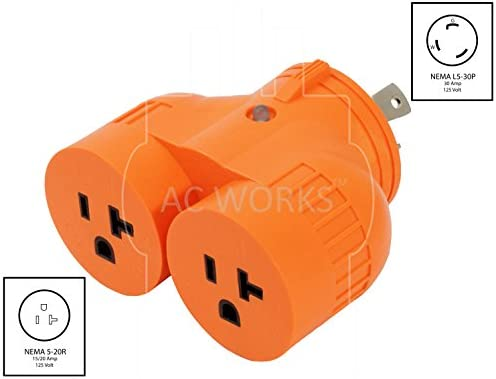 Flexible Power Distribution Adapter NEMA L5-30P to 3 NEMA 5-15R by AC WORKS™