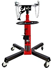 INTBUYING 1322LB Telescoping Hydraulic Transmission Floor Jack with 360° Swivel Wheels Foot Pedal 2 Stage 2 Pump for Car Lift (Red)