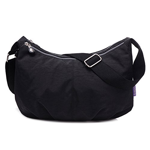 Small Satchel Messenger Shoulder Side Ladies Bag Outreo Fashion Bag Lightweight for Body Waterproof Bag Women Cross Black Bag PIwx6q
