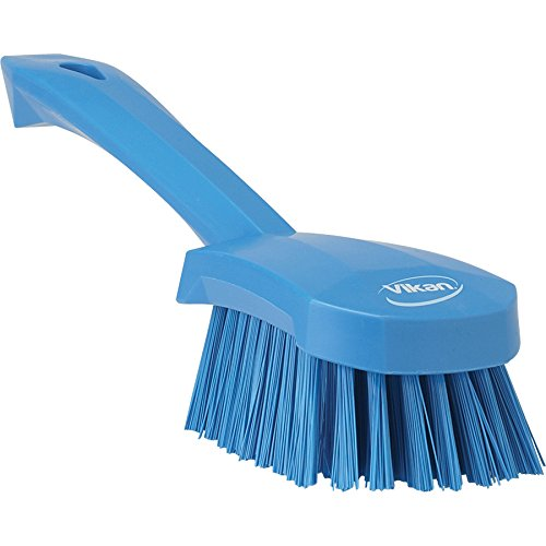 Vikan 41923 Heavy Duty Sweep Hand Brush, Polypropylene, Polyester Stiff Bristle, 10'', Blue by Vikan (Image #3)