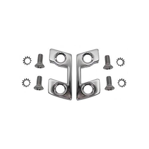 Eckler's Premier Quality Products 25-104371 Trim Parts, Header Lock Plates| 5244 Corvette Convertible / Hardtop -