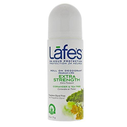 Lafe's Roll-On Deodorant, Coriander & Tea Tree, 2.5 Ounce