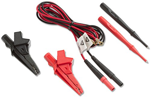 Fluke Networks LEAD-BANA-CLP Test Leads with 4 mm Banana Plugs, X-Large Alligator Clips and Test Probes for TS54, 53, 23 Test Sets ()