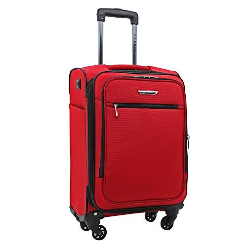 Travelers Club Luggage 20 Inch Carry-On Luggage, Red, Club 20