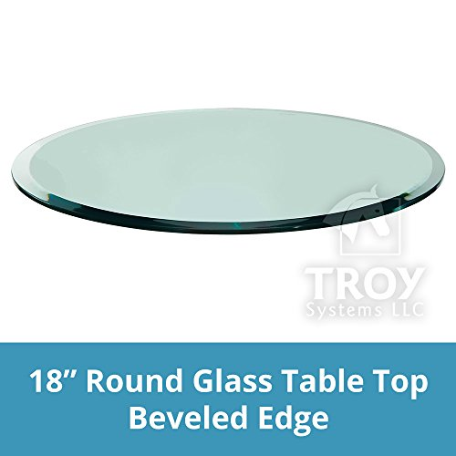 TroySys Glass Table Top, Beveled Edge, Annealed Glass, 18