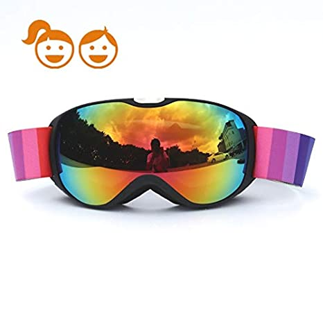dd676c4204d9 HONCENMAX Kids Ski Goggles - Snow Snowboard Goggles - Helmet Compatible -  for Child Children Youth