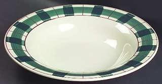 "product image for Vintage Hartstone Pottery Buffalo Check 12.5"" Large Round Vegetable Bowl"