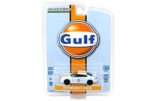 2015 Nissan GT-R R35 Gulf Racing Limited to 4800pc 1/64 by Greenlight 51062