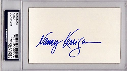 Nancy Kerrigan Autographed Signed Olympic Figure Skater 3x5 Inch Index Card - PSA/DNA Authenticity (COA) - PSA Slabbed Holder from Sports Collectibles Online