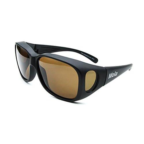 1c8151e7c6 new MOLA fit over polarized sunglasses Large clip on prescription glasses  driving fishing
