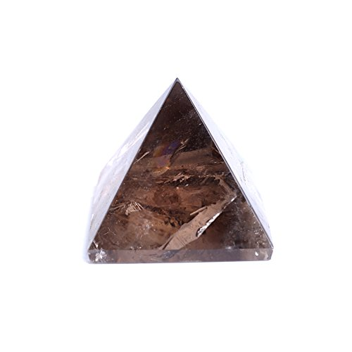 Yujinani Natural Smoky Crystal Pyramid -Brown Quartz Crystal Stone Handcarved Gemstone -Feng Shui Reiki ()