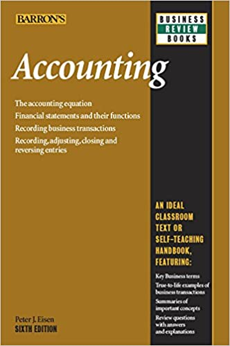 Accounting (Barron's Business Review): Peter J  Eisen